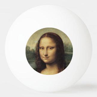 Mona Lisa in detail by Leonardo da Vinci Ping Pong Ball