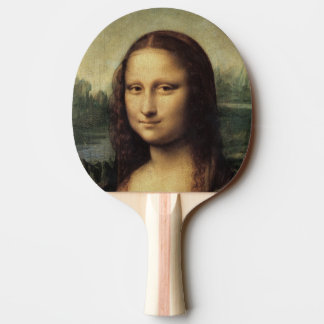 Mona Lisa in detail by Leonardo da Vinci Ping-Pong Paddle