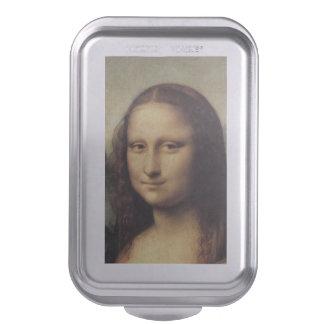 Mona Lisa in detail by Leonardo da Vinci Cake Pan