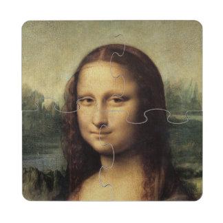 Mona Lisa in detail by Leonardo da Vinci Puzzle Coaster
