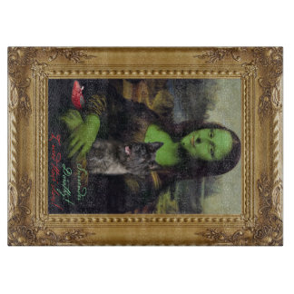 Mona Lisa in the wizard of oz parody cutting board