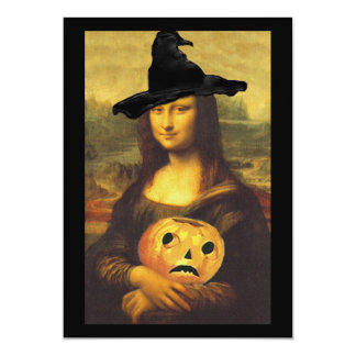 "Mona Lisa ~ In Witch Costume Party Invitations 5"" X 7"" Invitation Card"