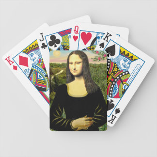 Mona Lisa - insert a pet (#2) Bicycle Playing Cards