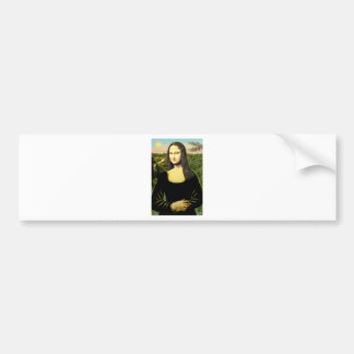 Mona Lisa - insert a pet (#2) Bumper Sticker