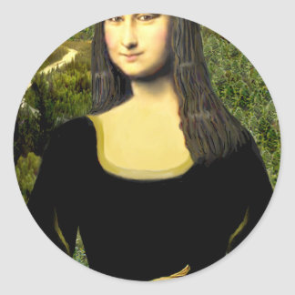 Mona Lisa - insert a pet (#2) Classic Round Sticker
