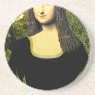 Mona Lisa - insert a pet (#2) Coaster