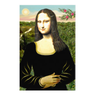 Mona Lisa - insert a pet (#2) Stationery