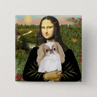 Mona Lisa - Japanese Chin (L1) 15 Cm Square Badge