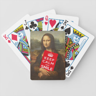 Mona Lisa Keep Calm And Smile Poker Cards