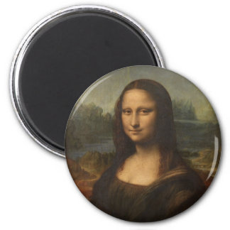 Mona Lisa (La Gioconda) 6 Cm Round Magnet