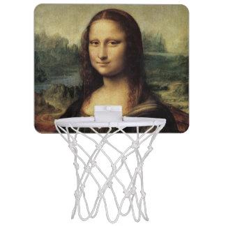 Mona Lisa La Gioconda by Leonardo da Vinci Mini Basketball Backboard