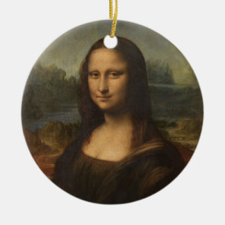 Mona Lisa (La Gioconda) Ceramic Ornament