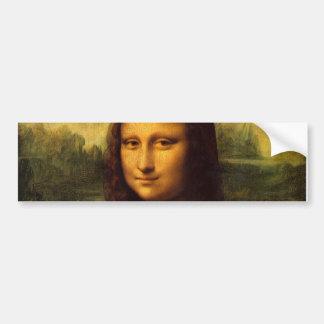 Mona Lisa Leonardo da Vinci Portrait Famous Smile Bumper Sticker