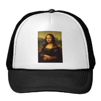 Mona Lisa Leonardo da Vinci Portrait Famous Smile Mesh Hats