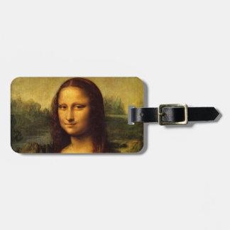 Mona Lisa Leonardo da Vinci Portrait Famous Smile Travel Bag Tags