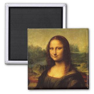 Mona Lisa Leonardo Da Vinci Square Magnet