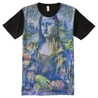 Mona Lisa Lily Version Portrait All-Over Print T-Shirt