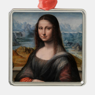 Mona Lisa Metal Ornament
