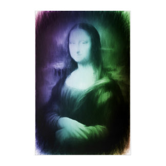 Mona Lisa modern abstract remake Acrylic Print