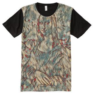 Mona Lisa Modern Portrait All-Over Print T-Shirt