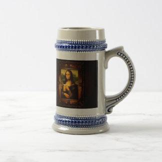 Mona lisa - mona lisa beer  - funny mona lisa-beer beer stein