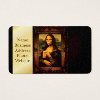 Mona lisa - mona lisa beer  - funny mona lisa-beer business card
