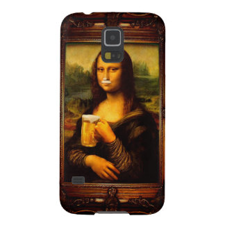 Mona lisa - mona lisa beer  - funny mona lisa-beer cases for galaxy s5