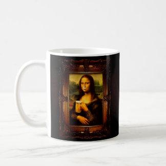 Mona lisa - mona lisa beer  - funny mona lisa-beer coffee mug
