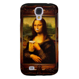 Mona lisa - mona lisa beer  - funny mona lisa-beer galaxy s4 covers