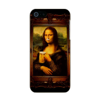 Mona lisa - mona lisa beer  - funny mona lisa-beer incipio feather® shine iPhone 5 case