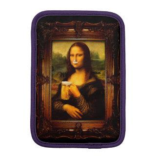 Mona lisa - mona lisa beer  - funny mona lisa-beer iPad mini sleeve