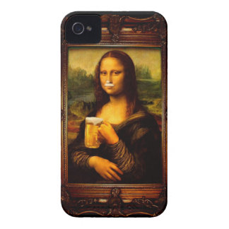 Mona lisa - mona lisa beer  - funny mona lisa-beer iPhone 4 case