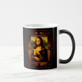 Mona lisa - mona lisa beer  - funny mona lisa-beer magic mug