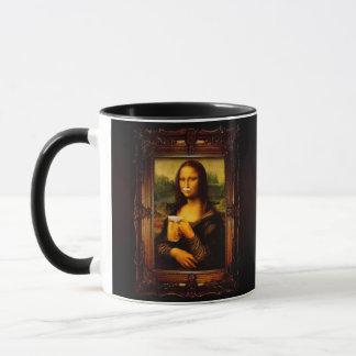 Mona lisa - mona lisa beer  - funny mona lisa-beer mug