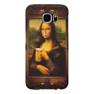 Mona lisa - mona lisa beer  - funny mona lisa-beer samsung galaxy s6 cases