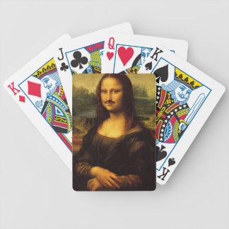 mona lisa mustache poker deck