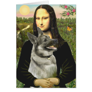 Mona- Lisa - Norwegian Elkhound Card