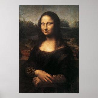 Mona Lisa on canvas Poster