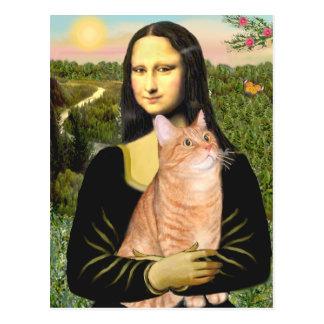 Mona Lisa - Orange Tabby SH 46 Postcard