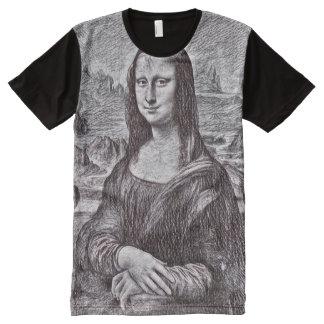 Mona Lisa Pencil Portrait All-Over Print T-Shirt