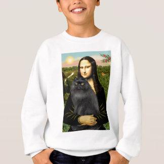 Mona Lisa - Persian cat (black) Sweatshirt