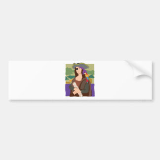 Mona Lisa Pirate Bumper Sticker