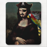 Mona Lisa Pirate Captain - Moustache