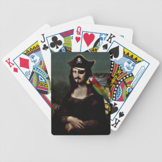 Mona Lisa Pirate Captain with Mustache Poker Deck