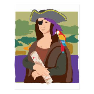 Mona Lisa Pirate Postcard