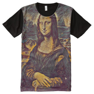 Mona Lisa Poe Portrait All-Over Print T-Shirt
