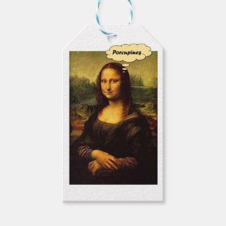 Mona Lisa Porcupines Gift Tags