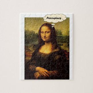 Mona Lisa Porcupines Jigsaw Puzzle