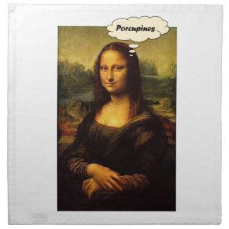 Mona Lisa Porcupines Napkin