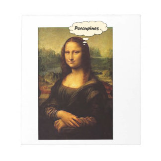 Mona Lisa Porcupines Notepad